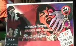 Protest against rape and murder of Hyderabad veterinarian