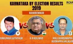 Karnataka by-election 2019 Results Ranibennur: Congress'