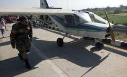 Plane makes emergency landing on Eastern Peripheral Express Highway in Ghaziabad