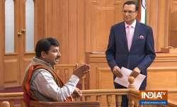 Delhi BJP chief Manoj Tiwari in Aap Ki Adalat with Rajat Sharma