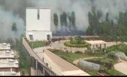 Fire breaks out near Prestige Lakeview Habitat in Bengaluru