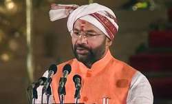 A file photo of MoS Home G Kishan Reddy (PTI)