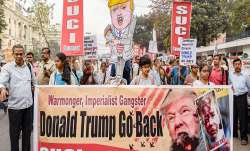 Left parties bring out 'go back Trump' rallies in Bengal