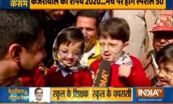 Little 'muffler men' wait to meet Arvind Kejriwal ahead of swearing-in ceremony   Watch