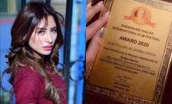 Bigg Boss 13's Mahira Sharma reacts to forging Dadasaheb Phalke International award