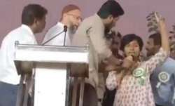 "Woman raises ""Pakistan Zindabad"" slogan at Owaisi rally, he denounces act"
