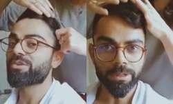 Indian captain Virat Kohli enjoyed a hairstyling session