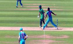 Jasprit Bumrah bowling a no-ball in the historic final of