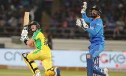 Steve Smith in action against India