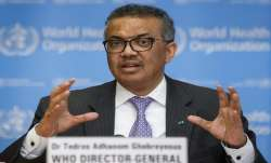 Tedros Adhanom Ghebreyesus, Director General of the World Health Organization speaks during a news c