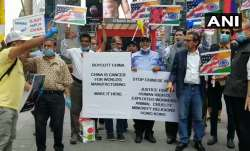 Times Square protests by Indians, Tibetans, Taiwanese to