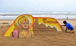 Sudarsan Pattnaik creates Ram Temple's replica on Puri beach