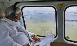 Bihar flood CM Nitish Kumar makes aerial survey