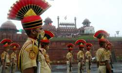 Jawans during the full-dress Rehearsal ahead of