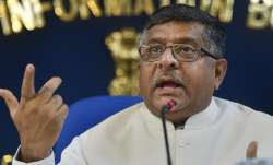 Senior BJP leader and Union Law Minister Ravi Shankar Prasad