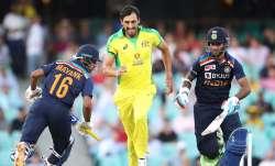 Live Cricket Score India vs Australia 1st ODI 2020: Mayank, Dhawan give India fiery start in 375-cha