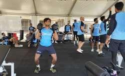 T Natarajan training in Australia