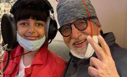 Amitabh Bachchan records new song with granddaughter Aaradhya