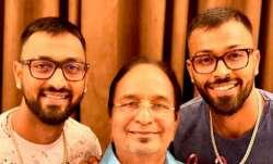 Krunal Pandya Hardik Pandya with father Himanshu Pandya.