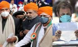 Congress leaders Ghulam Nabi Azad, Anand Sharma, Kapil