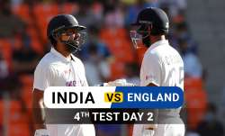 Live Score India vs England 4th Test Day 2: Follow Live Updates from Ahmedabad