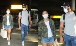 Ranbir Kapoor, Alia Bhatt airport look