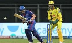 Prithvi Shaw and MS Dhoni, IPL 2021, CSK vs DC