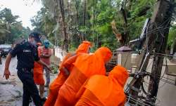 NDRF team undertakes restoration work, after a tree