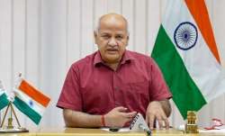 Delhi Deputy CM Manish Sisodia addresses a press conference
