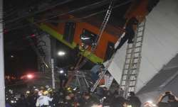Mexico City, metro overpass, metro overpass collapses, collapse on road, death, rescue operation, cr