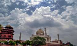 Clouds hover over Taj Mahal as monsoon approaches the city,