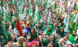 women farmers protest monsoon session parliament