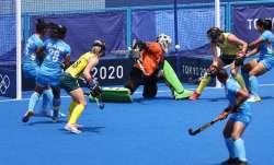 India women's hockey team dragflicker Gurjit Kaur scores