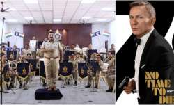 Mumbai Police Band, Poster of No Time to die featuring Daniel Craig