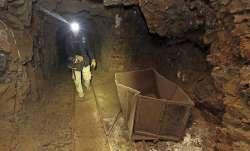 stuck in mine shaft