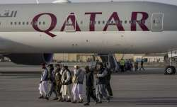 americans land in qatar from kabul