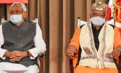 Bihar Chief Minister Nitish Kumar with Deputy Chief