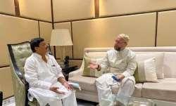 Asaduddin Owaisi meets Shivpal Yadav in Lucknow.