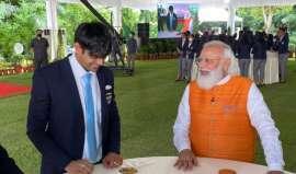 Photos: PM Modi hosts Neeraj Chopra, PV Sindhu and other Tokyo Olympians over breakfast
