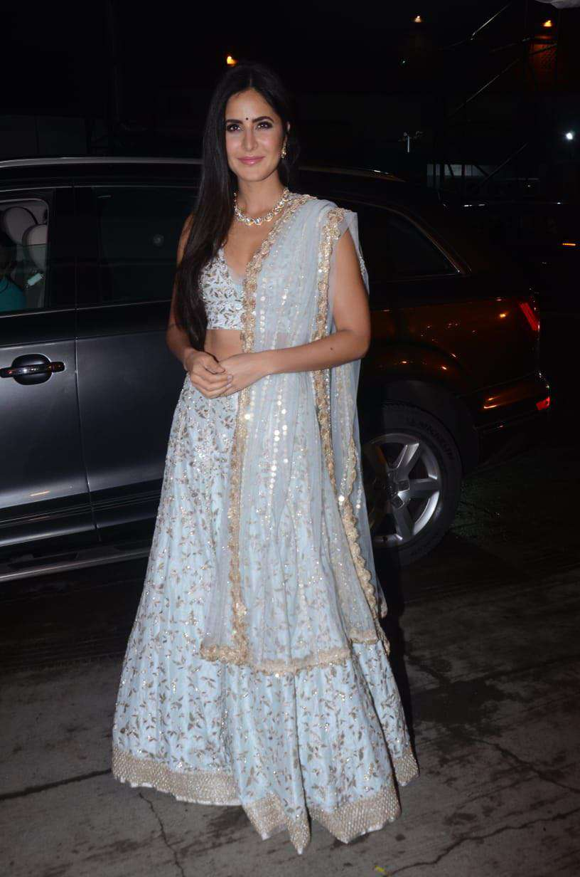 The gorgeous Katrina Kaif is here! The actress looked elegant in her ivory white lehenga.