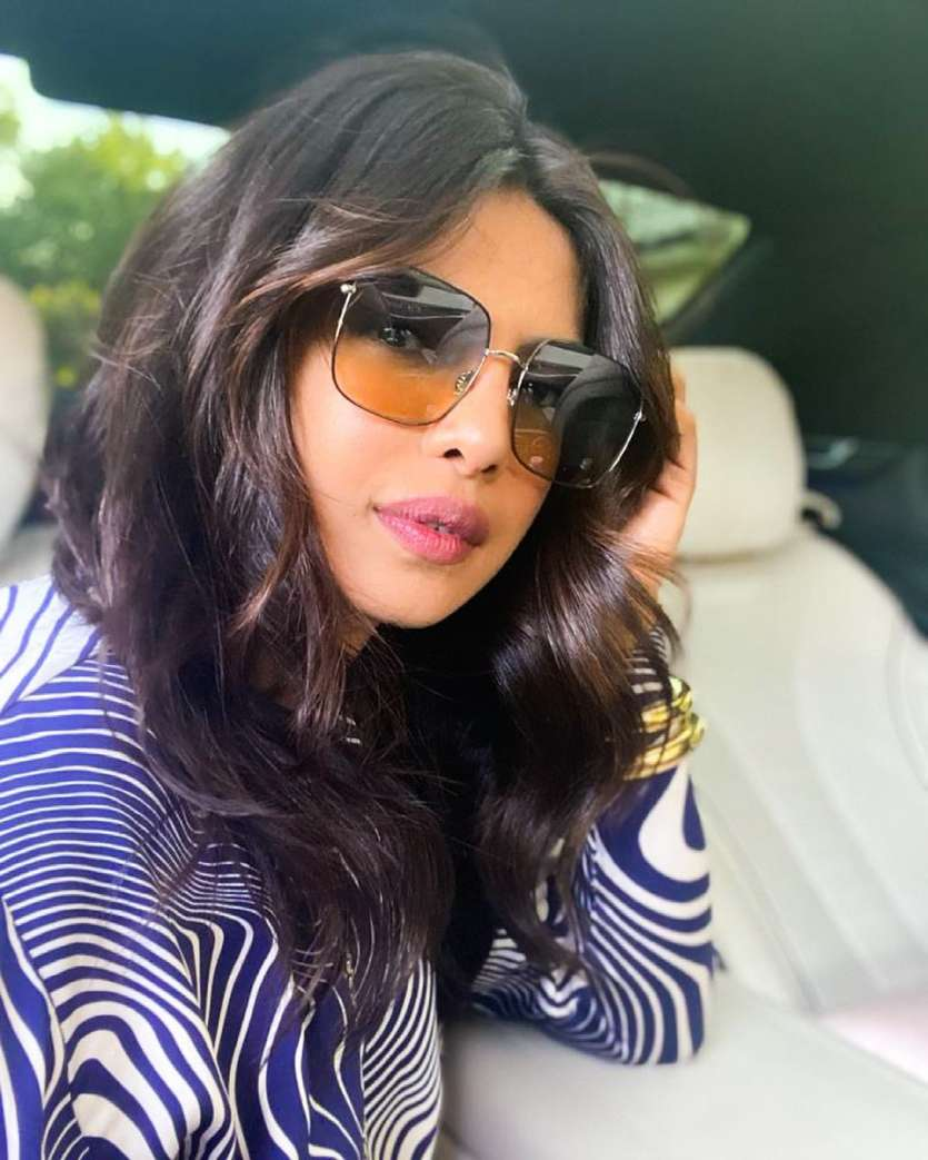 Retro is always in season and Priyanka wearing these super cool tan tinted frames is proof of the same.