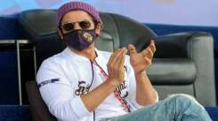 Shah Rukh Khan cheering for KKR during the on-going IPL